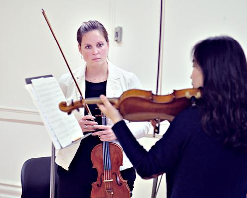 Emily Ondracek-Peterson teaching